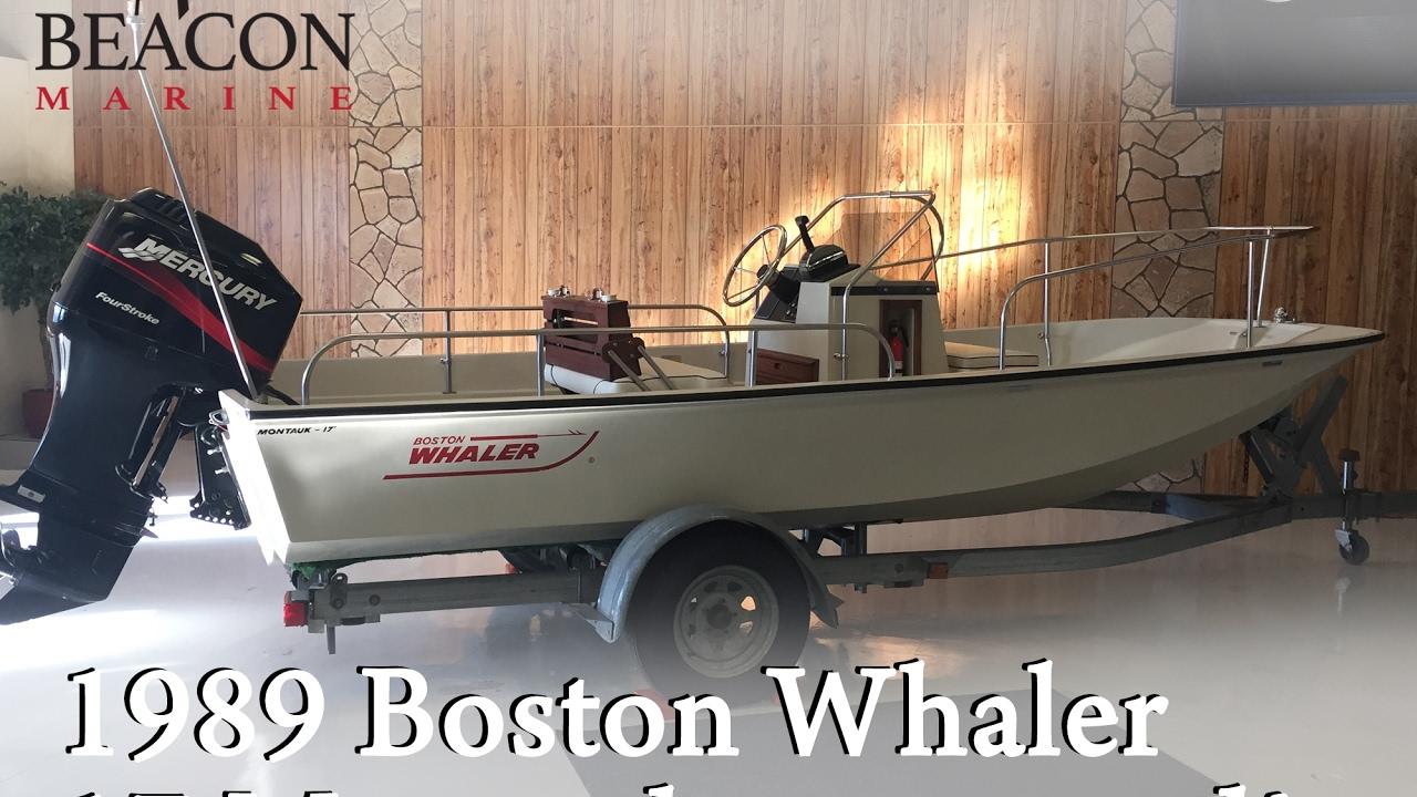 SOLD! For Sale - 1989 Boston Whaler 17 Montauk RESTORED