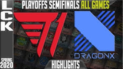 T1 vs DRX Highlights ALL GAMES | LCK Spring 2020 Playoffs Semi-finals | T1 vs DragonX