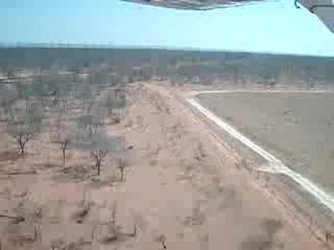 Flying into Kisane, Botswana