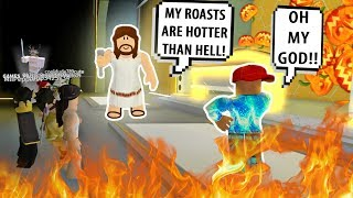 JESUS ROASTED HIM SO BAD! FUNNIEST RAP BATTLES #3! Roblox Auto Rap Battles 2 | Roblox Funny Moments