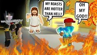 ¡JESÚS LO ASÓ TAN MAL! ¡BATALLAS RAP DIVERTIDAS #3! Roblox Auto Rap Battles 2 Roblox Funny Moments