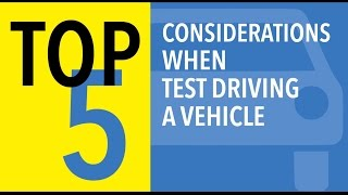 Top 5 Test Drive Tips for Smart Car Shopping - CARFAX