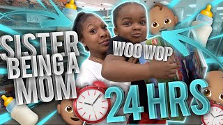 MY SISTER BECAME A MOM FOR 24 HOURS! (She's not ready)