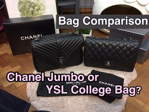 0ec0285b6e Bag Comparison  Chanel Jumbo vs Saint Laurent College Bag    What ...