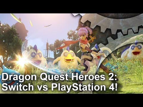 Switch vs PS4! Dragon Quest Heroes 2 Graphics Comparison + Frame-Rate Test