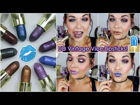 4d827839dd3a Urban Decay Vintage Vice Lipstick Capsule Collection | Lip Swatches ...