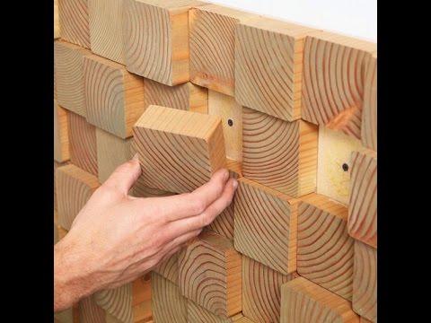 3d wooden antique mosaic tile wall