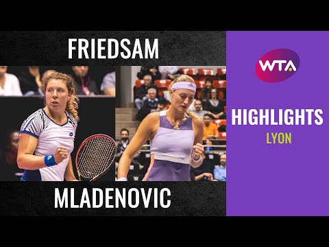 Anna-Lena Friedsam vs. Kristina Mladenovic | 2020 Lyon Second Round | WTA Highlights