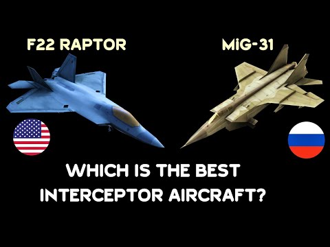 Which is the Best Interceptor Aircraft Today? Is it MiG-31 or F22 Raptor?