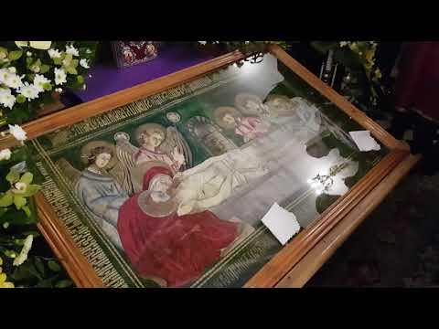 Вечірня з виставленням плащаниці у Львівському монастирі св. Онуфрія