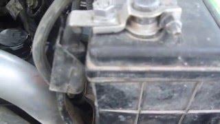добавление силовых проводов от аккумулятора до стартера.
