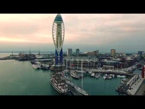 Aerial Footage Spinnaker Tower Portsmouth - DJI Phantom 3