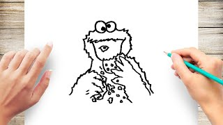 How to Draw a Cookie Monster Step by Step for Kids