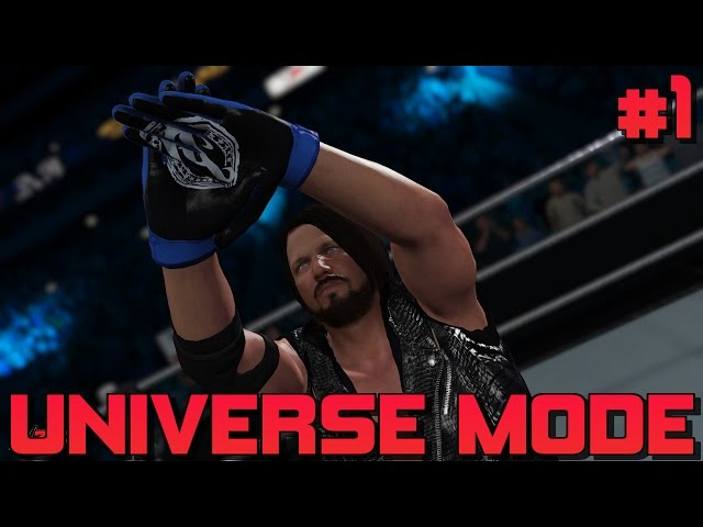 WWE 2K17 Universe Mode Ep #1 - The Debut Of #GCW Raw, King Styles Speaks & IC Title Tournament!!