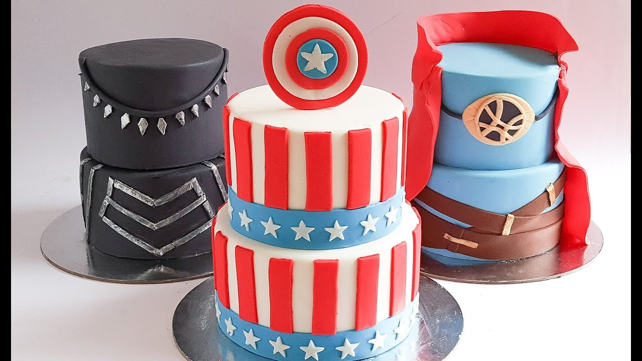 Marvel Inspired Mini Super Hero Cakes Rosies Dessert Spot Youtube
