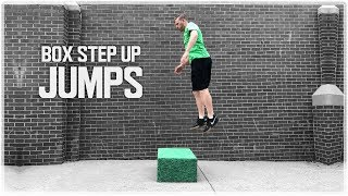 Explosive Step Up | Plyometric Single Leg Box Jump (Sprint Faster & Jump Higher)