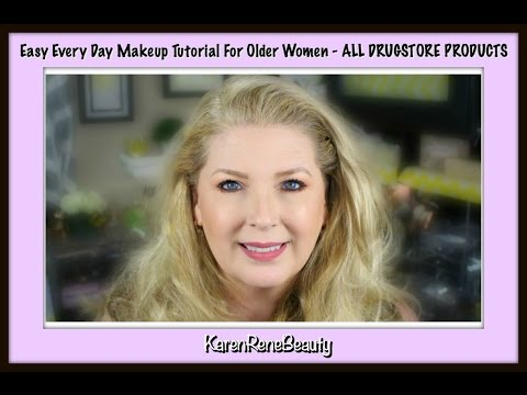 Easy Every Day Makeup Tutorial For Older Women - ALL DRUGSTORE PRODUCTS