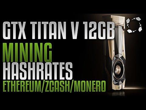 NVidia GTX TITAN V 12GB HBM2, Crypto Mining Benchmarks: ETH/ZEC/XMR/LBC/VTC