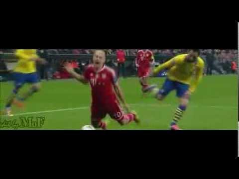 Arjen Robben's dive against Arsenal! 11/03/2014