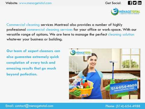 Menage Total Cleaning Services Montreal