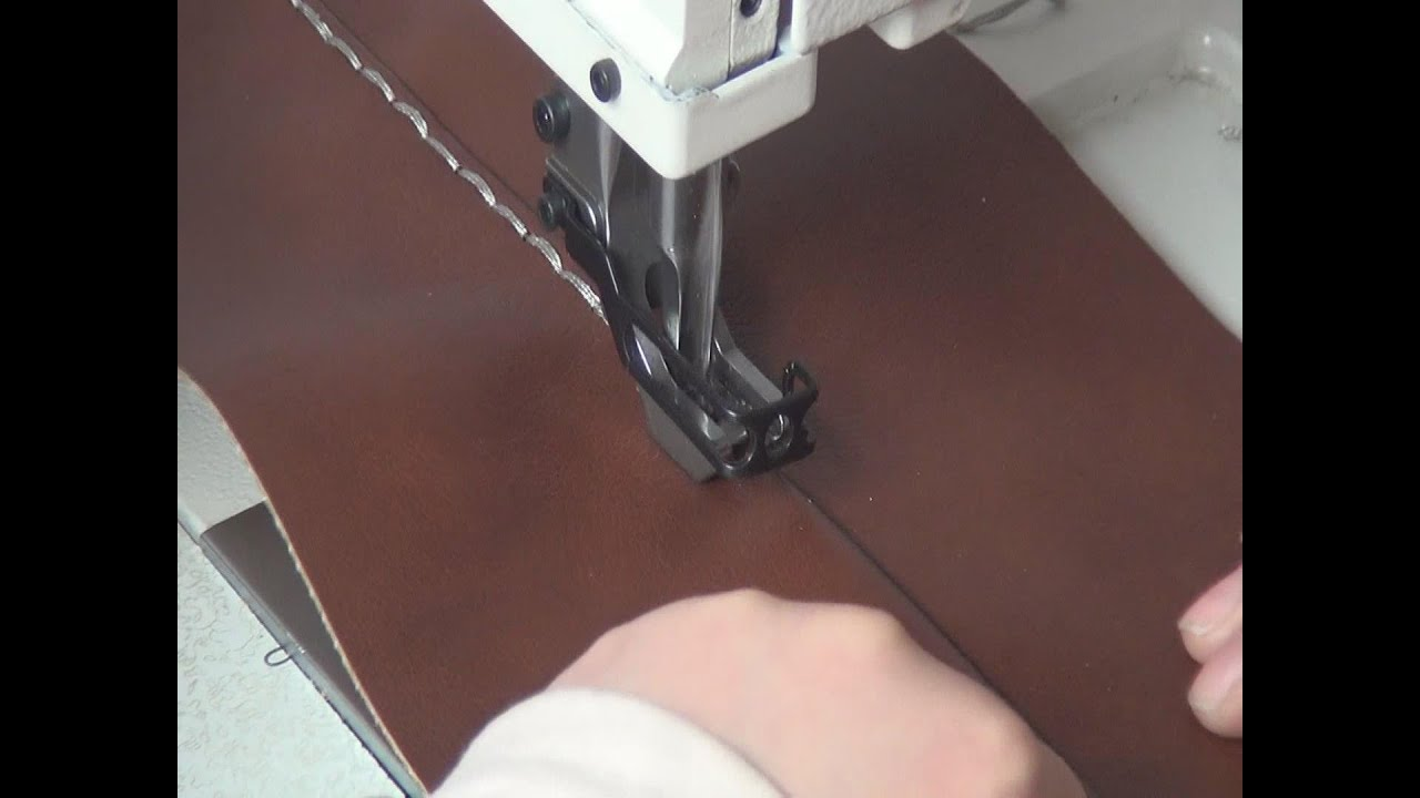 204-370 Heavy duty upholstery sewing machine for topstitching leather sofas  and furniture - YouTube