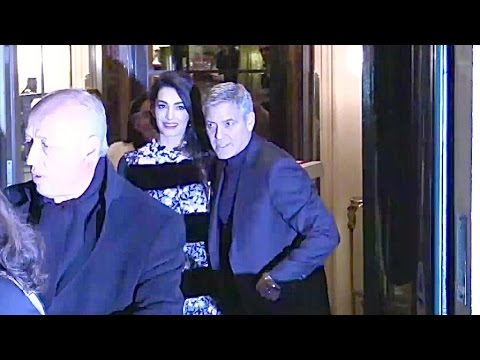 EXCLUSIVE : George Clooney and wife Amal go for diner at Laperouse restaurant in Paris