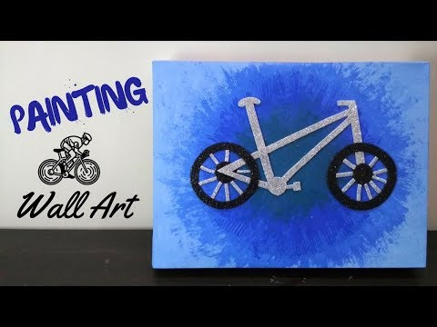 WATERCOLOR PAINTING Easy Tutorial landscape | Bike Themed Canvas Wall Art