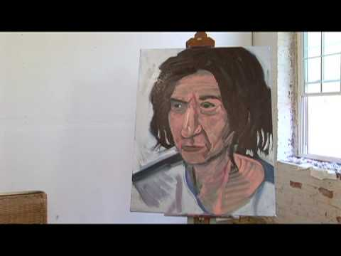 Painting: Completing an Expressionist Portrait : Expressionist Portrait Painting: Stepping Back