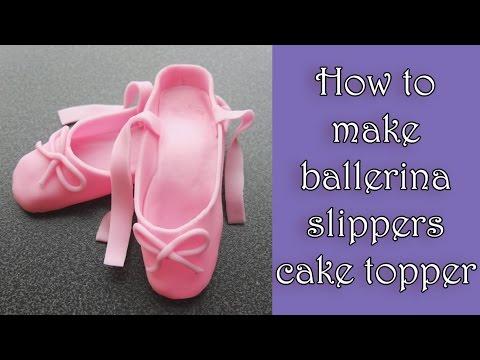 How to make fondant ballerina slippers tutorial /  Jak zrobić baletki z masy cukrowej