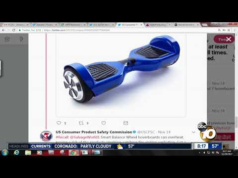 CPSC issues recall for several brands of hoverboards
