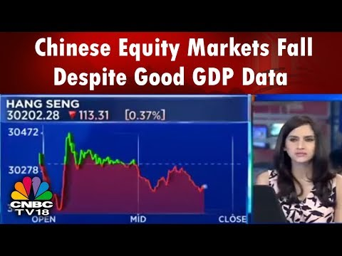 Chinese Equity Markets Fall Despite Good GDP Data | Halftime Report | CNBC TV18