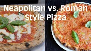 Roman Style Pizza versus Neapolitan Style Pizza at Giulietta Pizzeria