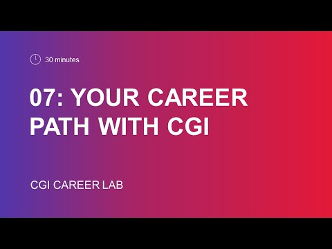 Your Career Path with CGI