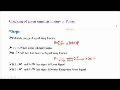 Digital signal Processing part-10 (Energy & Power of DT signal -1)