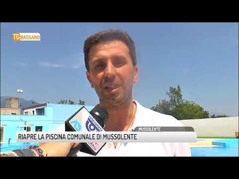 TG BASSANO (03/08/2018) - RIAPRE LA PISCINA COMUNALE DI MUSSOLENTE