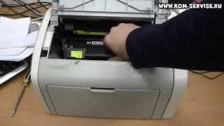 Как вытащить картридж из принтера HP 1010,1018 или Canon LBP 2900. Как вставить бумагу.(Для этого тянем за верх и открываем крышку Canon i-SENSYS LBP2900 или его аналог HP LaserJet 1010, 1012, 1015, 1018 и 1020. После..., 2015-02-16T02:49:30.000Z)
