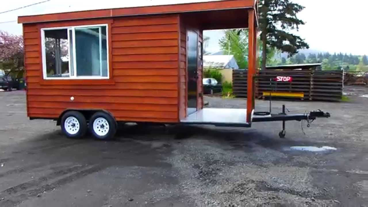 Cedar Concession Food Cart Mobile Kitchen Bbq Youtube