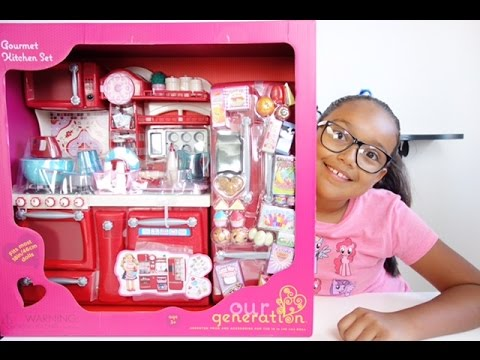 Our Generation Gourmet Kitchen Set Unboxing - YouTube