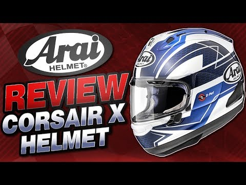 Arai Corsair X Helmet Review From Sportbiketrackgear.com