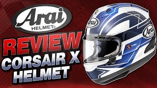 arai corsair x helmet review from sportbiketrackgear com