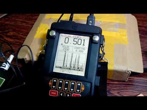 Calibracion Medidor de Espesores Krautkramer DMS2 Top Coat