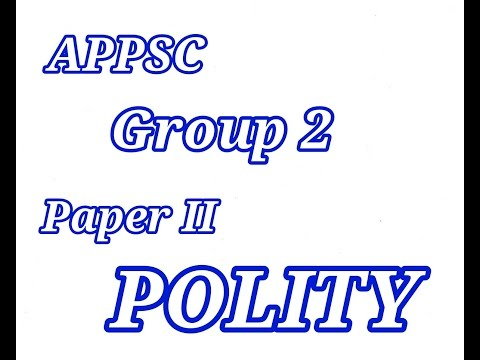 GROUP II PAPER  2 POLITY