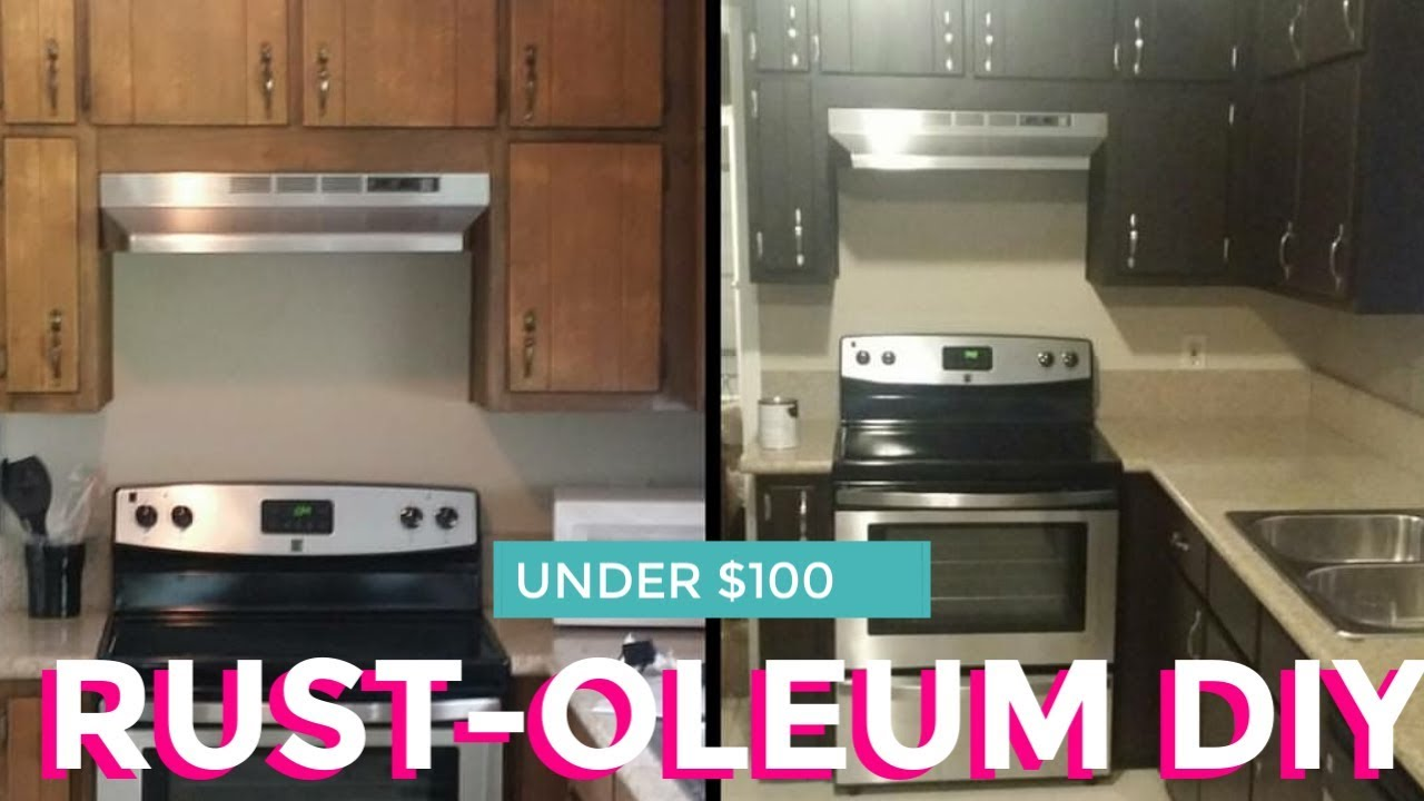 Rustoleum Kitchen Cabinets 55 Diy Rustoleum Cabinet Transformation Youtube