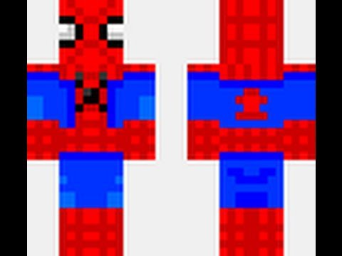 Spiderman Minecraft Skin Download YouTube - Skins para minecraft pe de spiderman