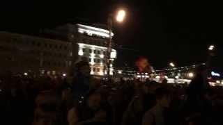 Москва, Праздничный Салют, День Победы 2015, окончание салюта.