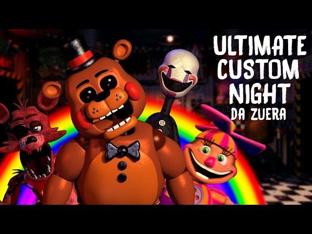 LOUCURA TOTAL!! - FNAF Ultimate Custom Night DA ZUERA #1