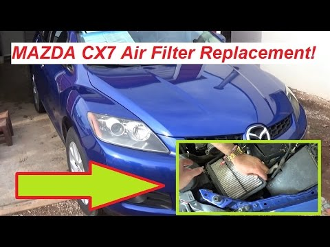 Mazda CX7 Air Filter Removal and Replacement. Mazda CX-7 CX 7 Air ...
