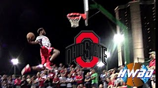 THE Ohio State Buckeyes Have Dunk Contest on Campus!! | Jae'sean Tate, Kam Williams, Daniel Giddens