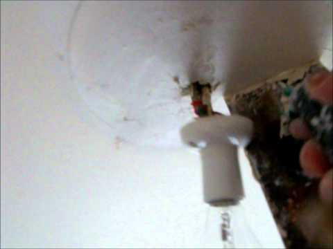 How to fit a Light to the Ceiling ~ Hawthorn Plaster Repairs