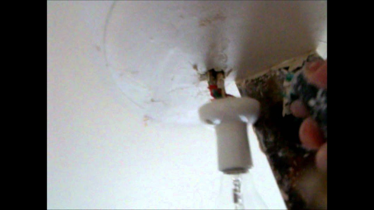 How To Fit A Light The Ceiling Hawthorn Plaster Repairs Youtube Wire That Is In From Switch Now Rose
